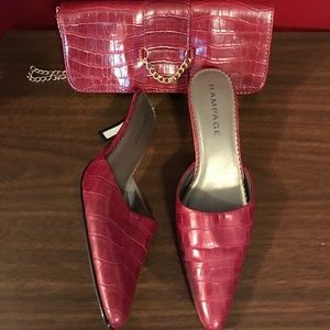 Rampage Mules With Clutch Bag